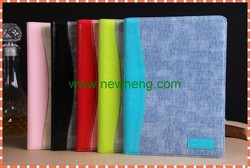 new design Jeans leather case with holder for ipad 5