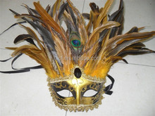 wholesale party masquerade masks with stick/half face masquerade masks MSK24