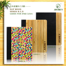 Luxury wood and leather for i-pad cover