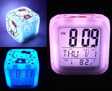 SN-1002-6,buy direct from china factory alarm clock night light/color changing clock night light