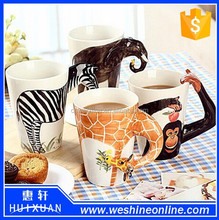 cute animal designs 3d ceramic coffee mug