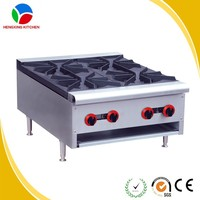 Hot Selling Stainless Steel Commercial 4 Burners Gas Stove Auto Ignition