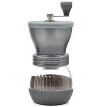 Dishwaser safe coffee mill/grinder ONLY USD7.5/set Manual Ceramic Burr Coffee Grinder, Hand-crank Coffee Mill