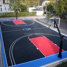 International standard exported, 12.7mm thickness flexiable durable pp rubber basketball field flooring