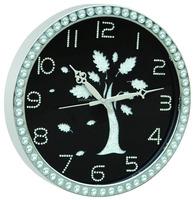 Home Decorative Acrylic Wall Clock with Diamond on the Dial,quartz wall clock