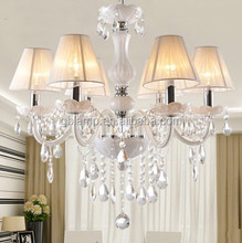 Simple white pendant lamps, white crystal chandelier