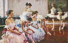 Sex ballet girl dancing oil painting 100% handmade modern wall art
