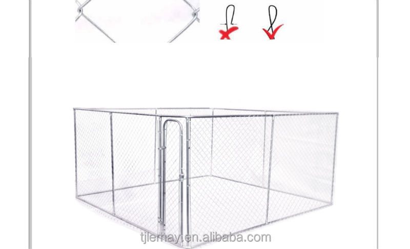 13x13x6ft Large outdoor galvanized chain link pet cage dog sale