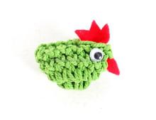 Small Green Crochet Chicken Fridge Magnet Home Decoration