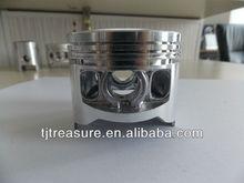 Two stroke and four stroke gasoline engine piston aluminium body