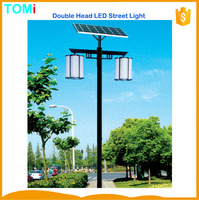 Hot sale double head Solar LED street light CE RoHS IP65 China Solar garden lantern