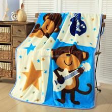 polyester brushed for children use animal print fleece blanket