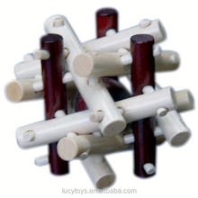 promotional brain teaser wooden 3d flexible puzzle toy