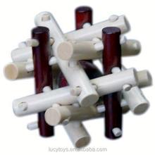 promotional wooden 3d flexible puzzle toy