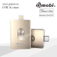 Gmobi iStickPro MFi USB type-c Flash Drive Storage 16G 32G 64G 128G For Apple New Macbook 12''