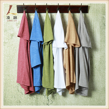 new style rounded hem sports t shirt branded organic cotton t-shirt