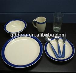 Italian ceramic tableware,blue and white porcelain dinnerware set,hand painted stoneware dinnerware