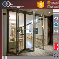 Folding Open Style and Glass Door Material 8mm folding glass