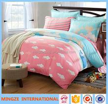 Conjunto miúdos cama desenho animado conjunto de cama com anjo imprimir fantasia jogo de cama