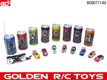 Best selling products ! mini toys 9803 1:63 4-CH coke can mini rc car with front and rear lights