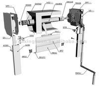 Manual roller shutter parts for door or window