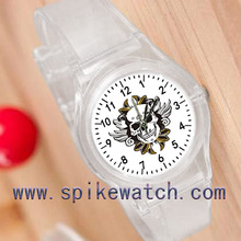 Skull faced lasted men watch new cheap electronic promotional gifts