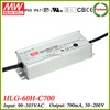Meanwell led constant current driver HLG-60H-C700
