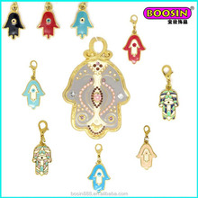 Factory direct sell new custom enamel hamsa hand religious charm pendant