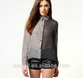 Oem 2015 nuevo diseño de la gasa mujeres blusa mujeres blusa para uniforme