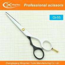 Gi-55 cheveux ciseaux professionnels, Tatouage en acier inoxydable ciseaux de coiffure