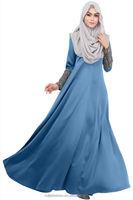 Muslim lastest fashion gorgeous design elegant women Long Sleeve kaftan abaya dress//Women Muslim Baju Dress