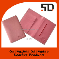 Manufacture Simple Design Fancy Pink Leather Card Holder