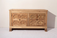 A Good Antique Style Painted Serpentine Bank of Drawers Chest
