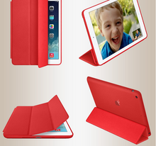 New design split leather cover for ipad air 2 Protective leather stand case for ipad 6