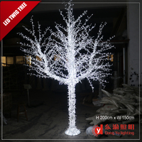 High quality outdoor christmas decoration led twig light tree
