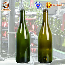 Discount stock products 750ml burgundy glass alcohol bottles