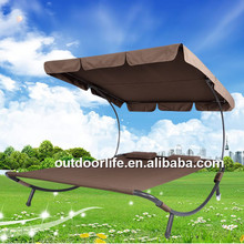 Hot sale double sun lounger with canopy