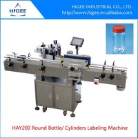 HIG servo motor economy automatic peanut butter labeling machine