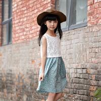 Embroidered cusmot kids girls princess dress guangzhou