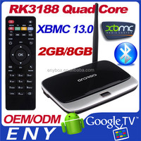 RK3188 Quad Core TV Box Android 4.4 Dual Wifi Android internet stream tv box with wifi live English channels for USA and UK