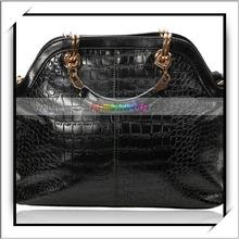 Moda mulheres bolsa de couro um- bolsa de ombro preta