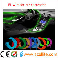 new hot sale decorative neon rope light el wire car
