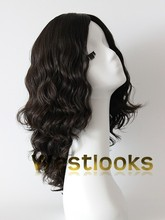 Factory Offer High Quality Human Hair Custom Made Dark Brown Jewish Wigs