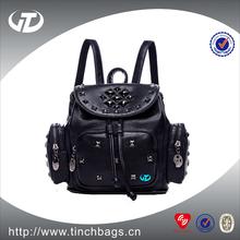 Wholesale fashion custom women high school leather backpack