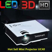 2015 Hot Sale Original Unic UC40 Projector LED Projector 1080P Support Russian Korean