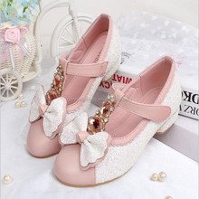 2015 Spring popular girl shoes baby girl beautiful princess shoes kids pearl and rhinestone trimmings shoes