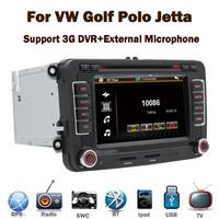 3G Internet Autoradio 2 din DVD GPS for VW Polo Golf Touran Jetta Passat with 3G GPS Bluetooth Radio RDS steering wheel control