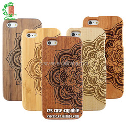 Ganesha Exquisite Carving Wood Mobile Phone Cover From China Supplier