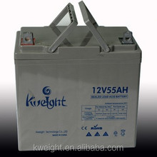 battery for car and ups deep cycle agm battery 12v 55ah