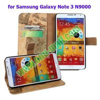 Map Texture Leather Cover for Samsung Galaxy Note 3 Case